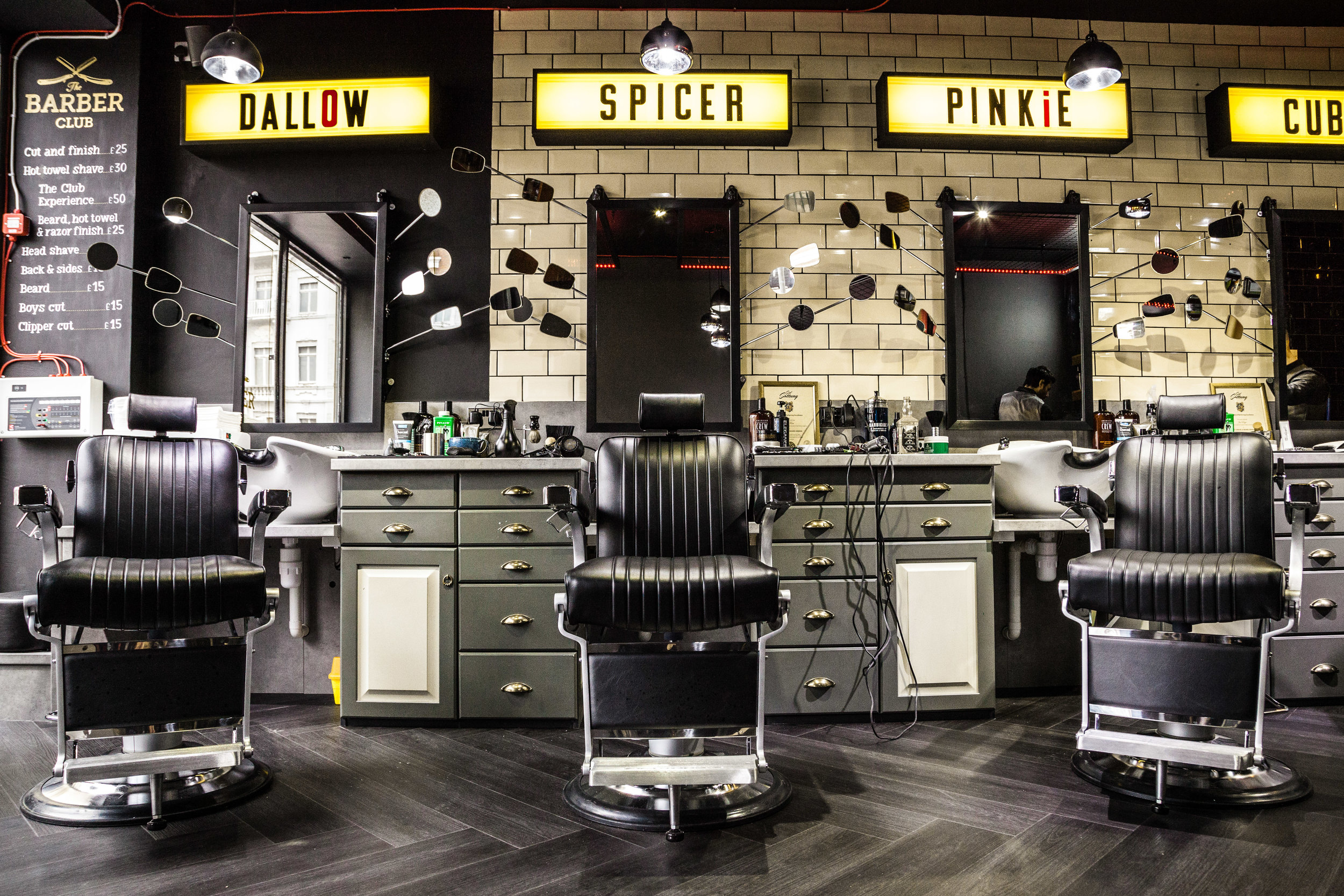 Barber club chairs
