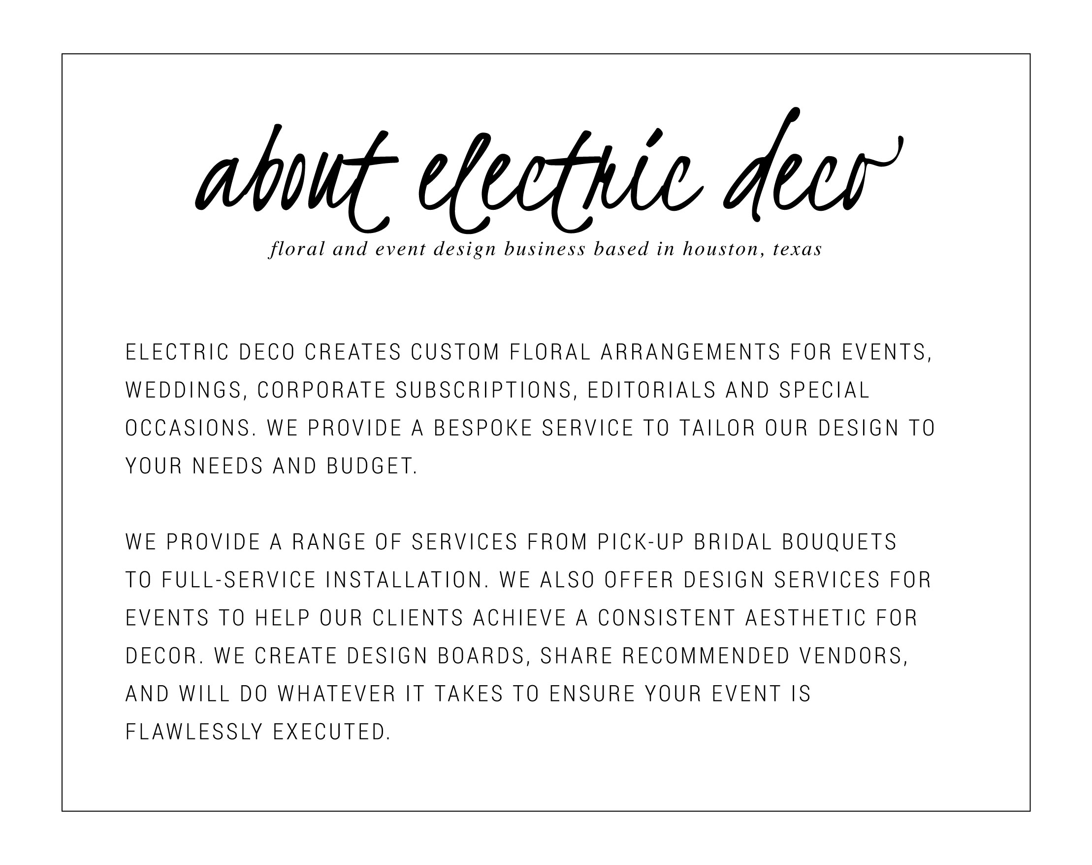 Electric Deco Flowers and Design