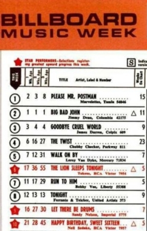 Motown's first No. 1 on the pop charts