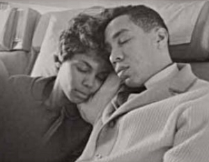 Claudette and Smokey Robinson: on the road, in 1962