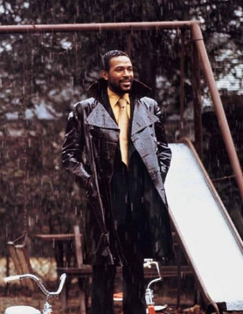 Marvin Gaye at home, 1971 (photo: Jim Hendin)