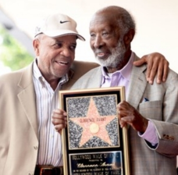 Berry Gordy with Clarence Avant