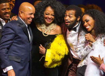 On Broadway: Berry and Diana with Brandon Victor Dixon, Valisia LeKae (photo: WireImage)