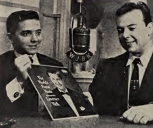 A young Prince (left) with WJBK Detroit disc jockey Dan Baxter