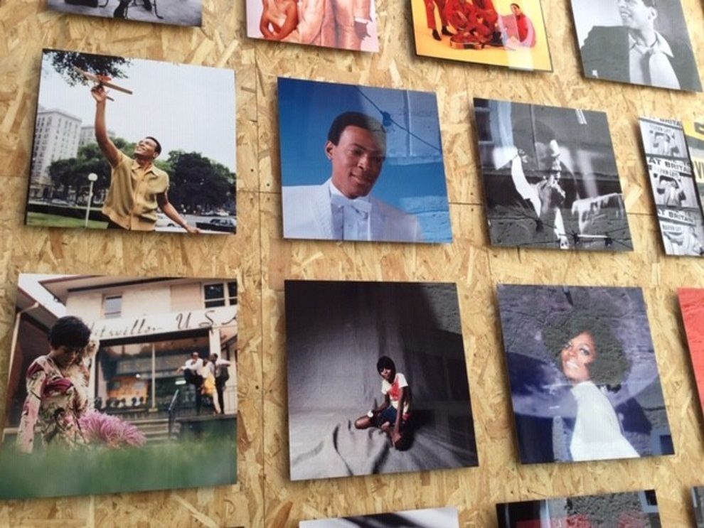 A wall of Motown superstars in France, at Les Rencontres d'Arles