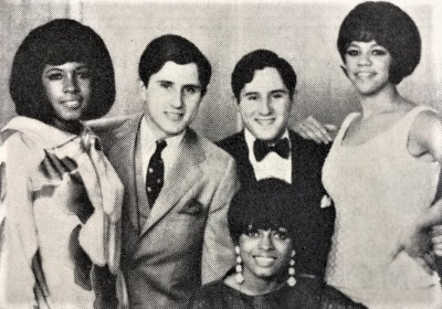 Meeting the Supremes, Tom (left) and Jerry Schoenith