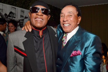 Stevie and Smokey at the Los Angeles premiere (photo: Lester Cohen/Getty)