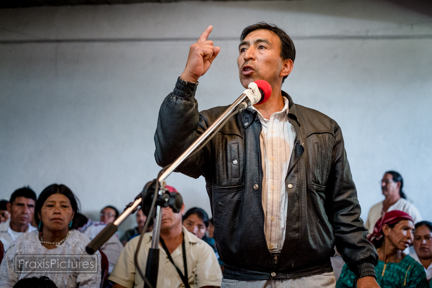 "Bamaca:  ""They want to use our taxes to pay for the damages of the mine, but we are a poor country, which is why we demand that the company pay for this. all of us need land to feed us, and it is sad what the mine is doing to the land. We feel as if they are killing us with fire. This struggle is not for us, but those who have not yet been born."""