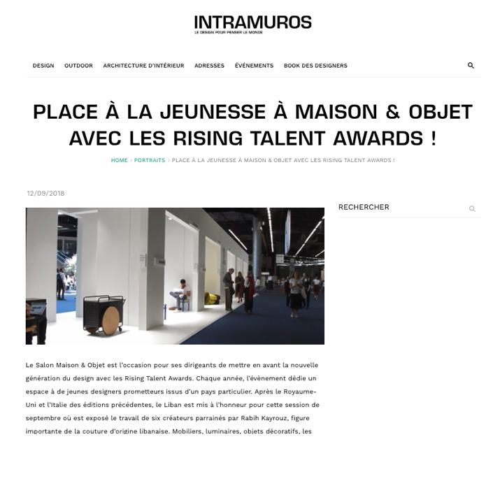 intramuros rising talent awards