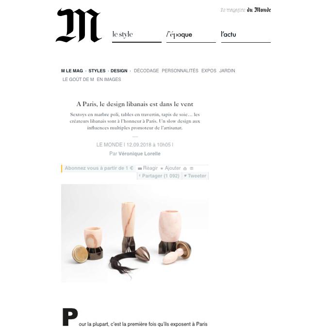 Le Monde design libanais