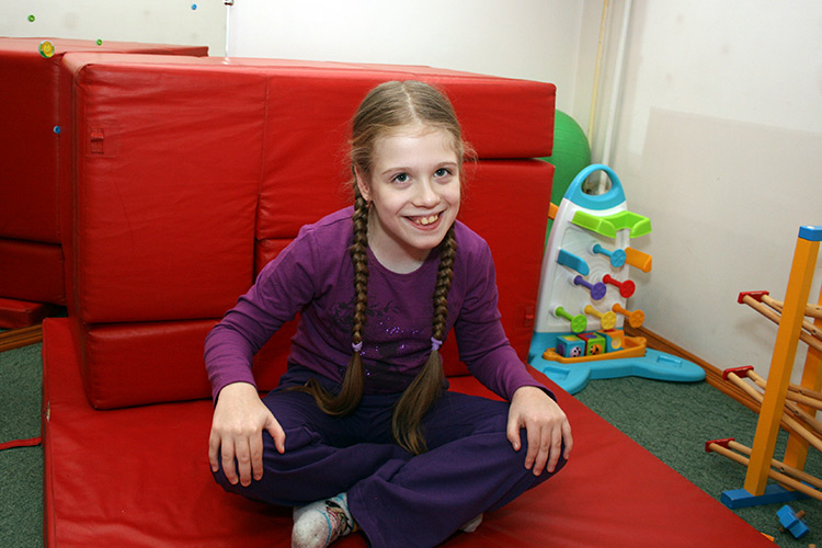 Nastya has learned to sit independently
