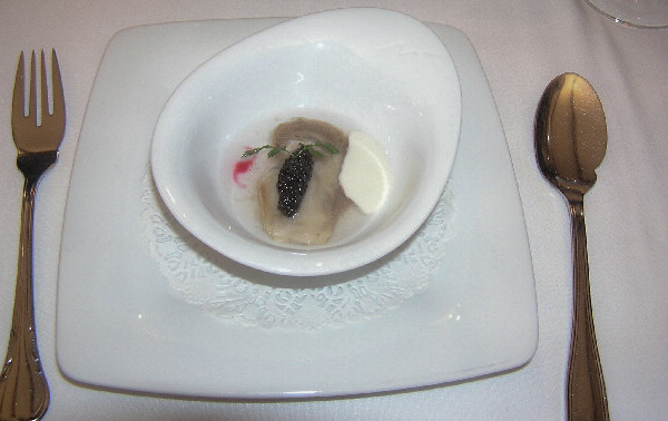 Oyster and Caviar with Lemon Gelatin