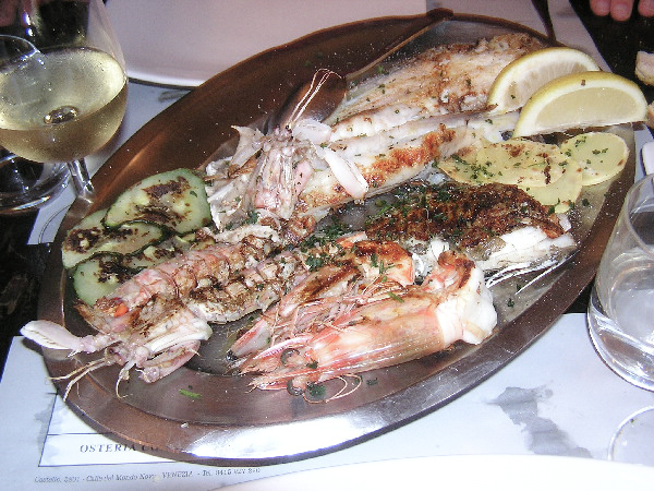 Mixed Grill of Seafood