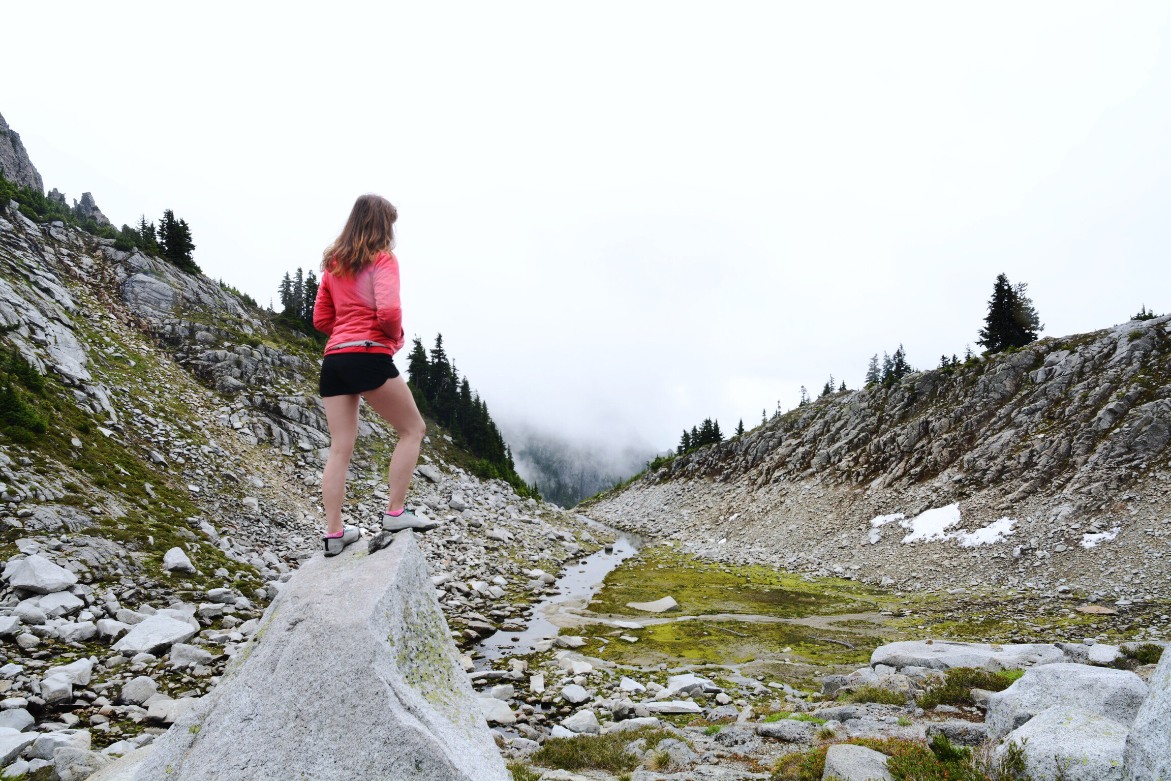 Wearing my Accrux SL approach shoes in the North Cascades.