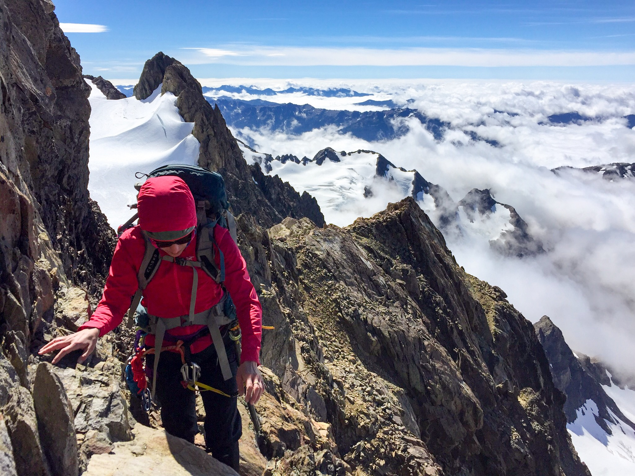 Nearing the summit of Mount Olympius. Feeling fine, thanks for asking. Photo:  Daniel Fineman