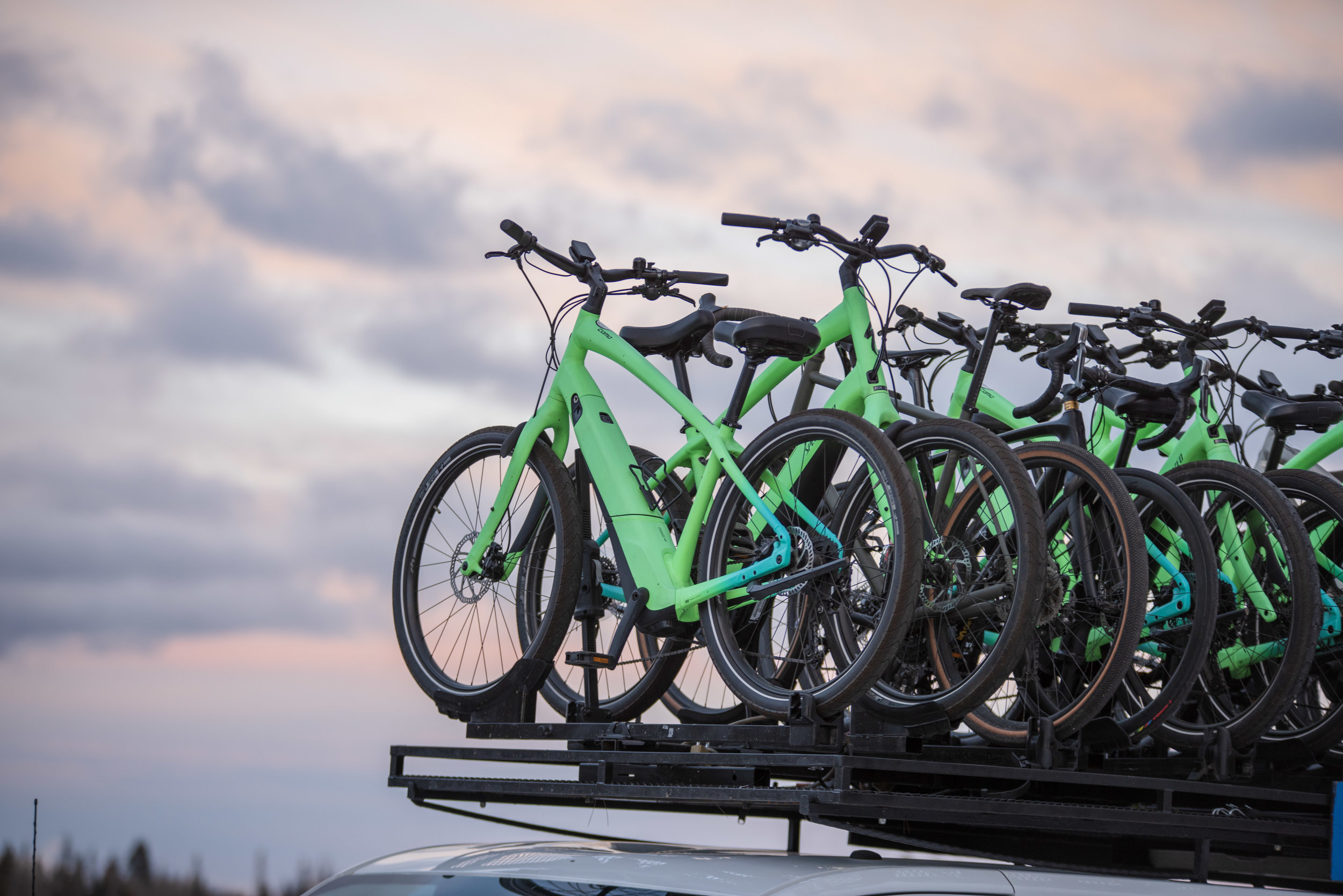 Have you ever seen so many beautiful e-bikes?
