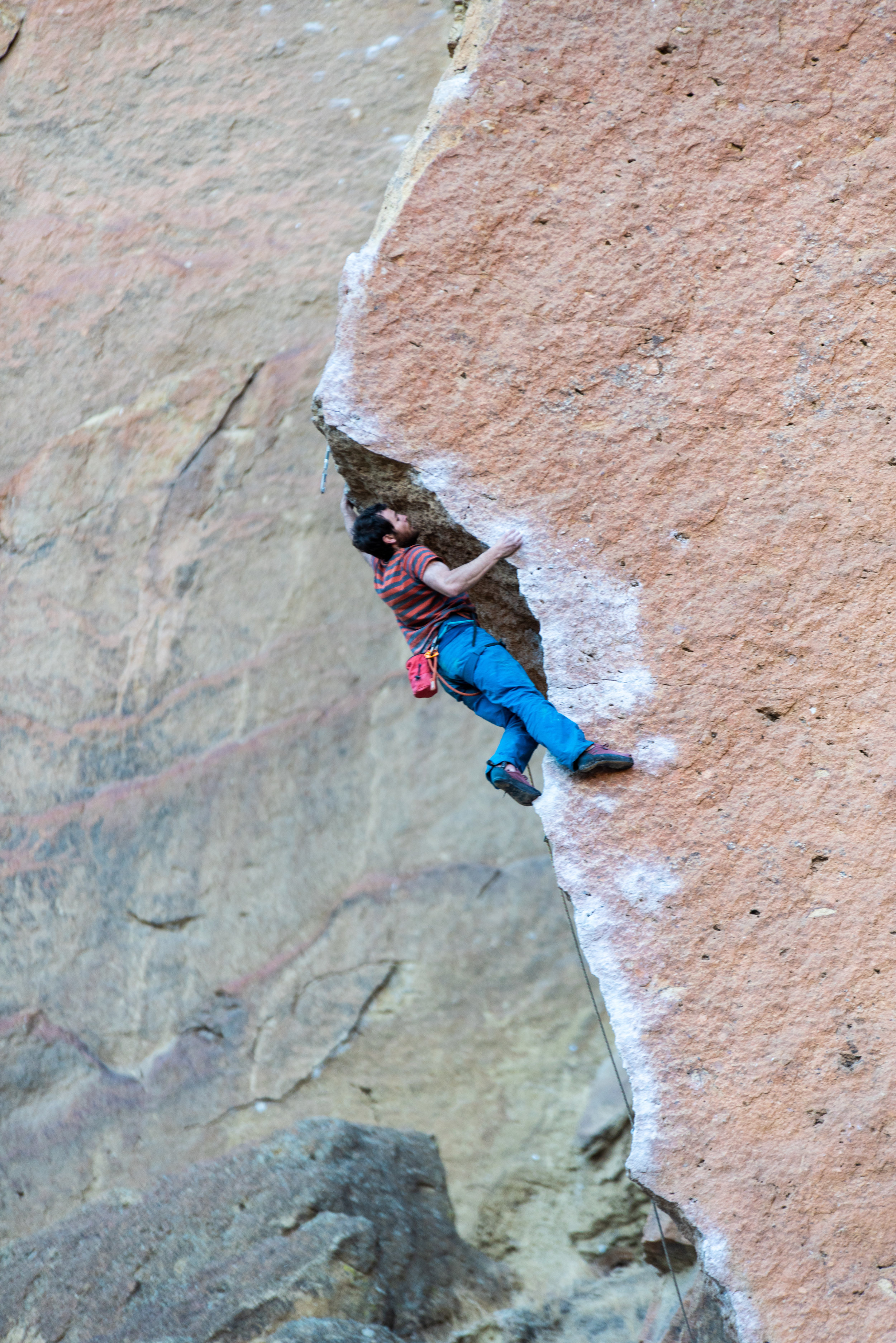Matt Fineman on Chain Reaction at Smith Rock