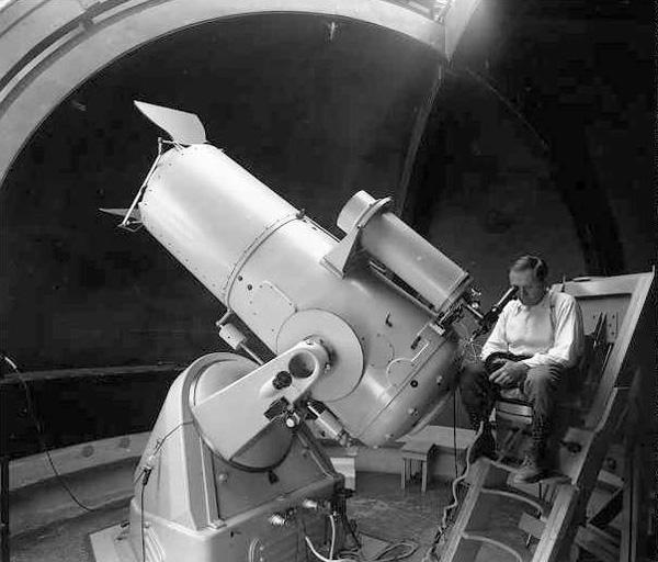 Fritz Zwicky at 18-inch  Schmidt Telescope (1936)