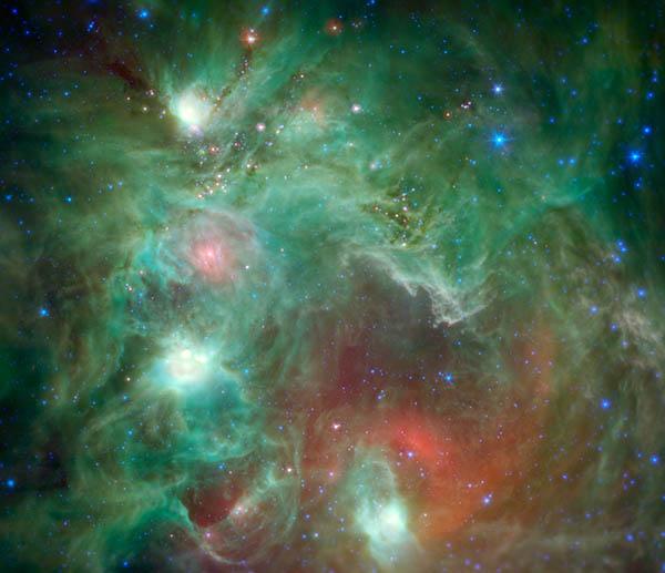Seeing Beyond the 'Monkey Head' (Credit:NASA/JPL-Caltech)