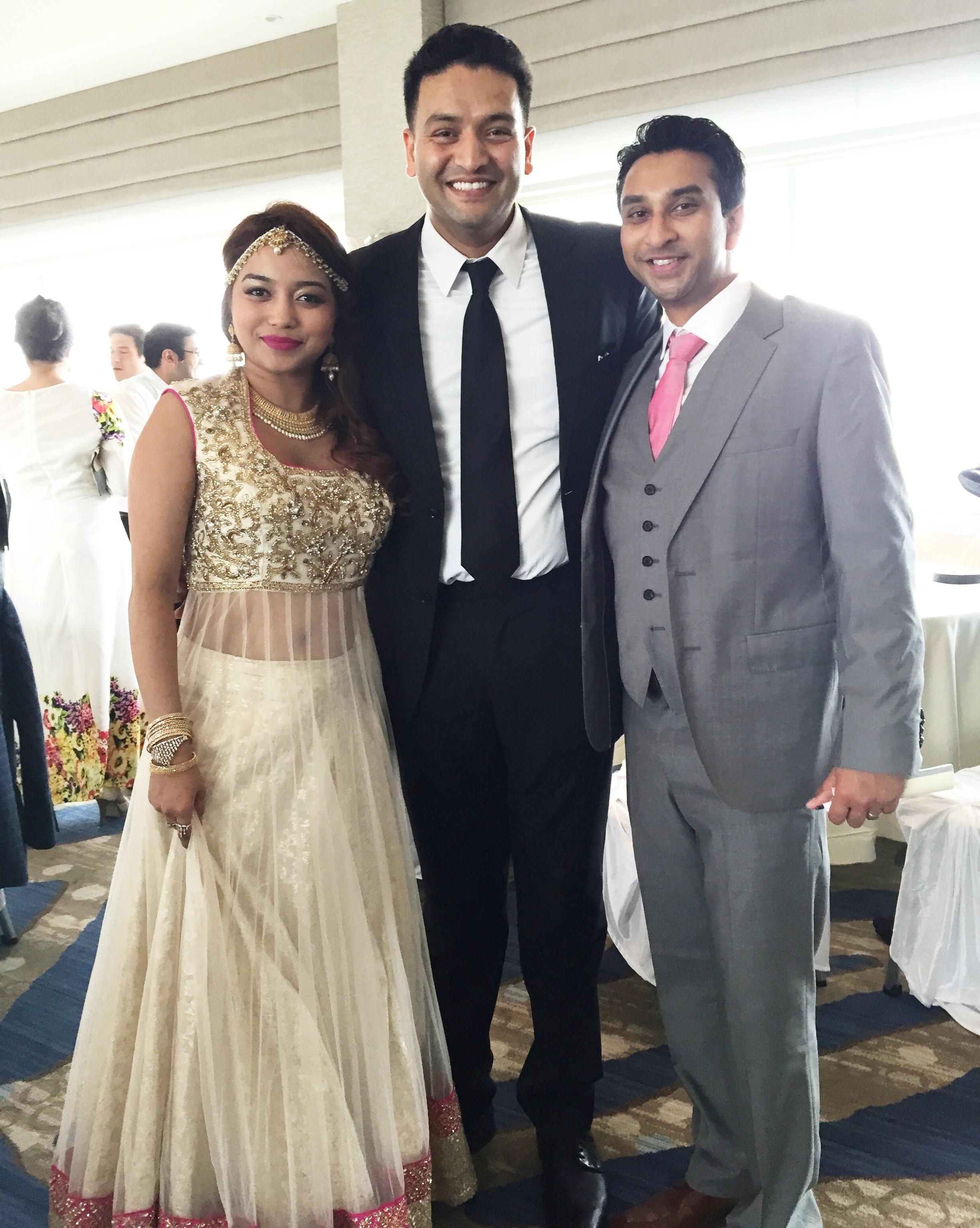 Dj Amrit with the couple at JErsey city hyatt, NJ.