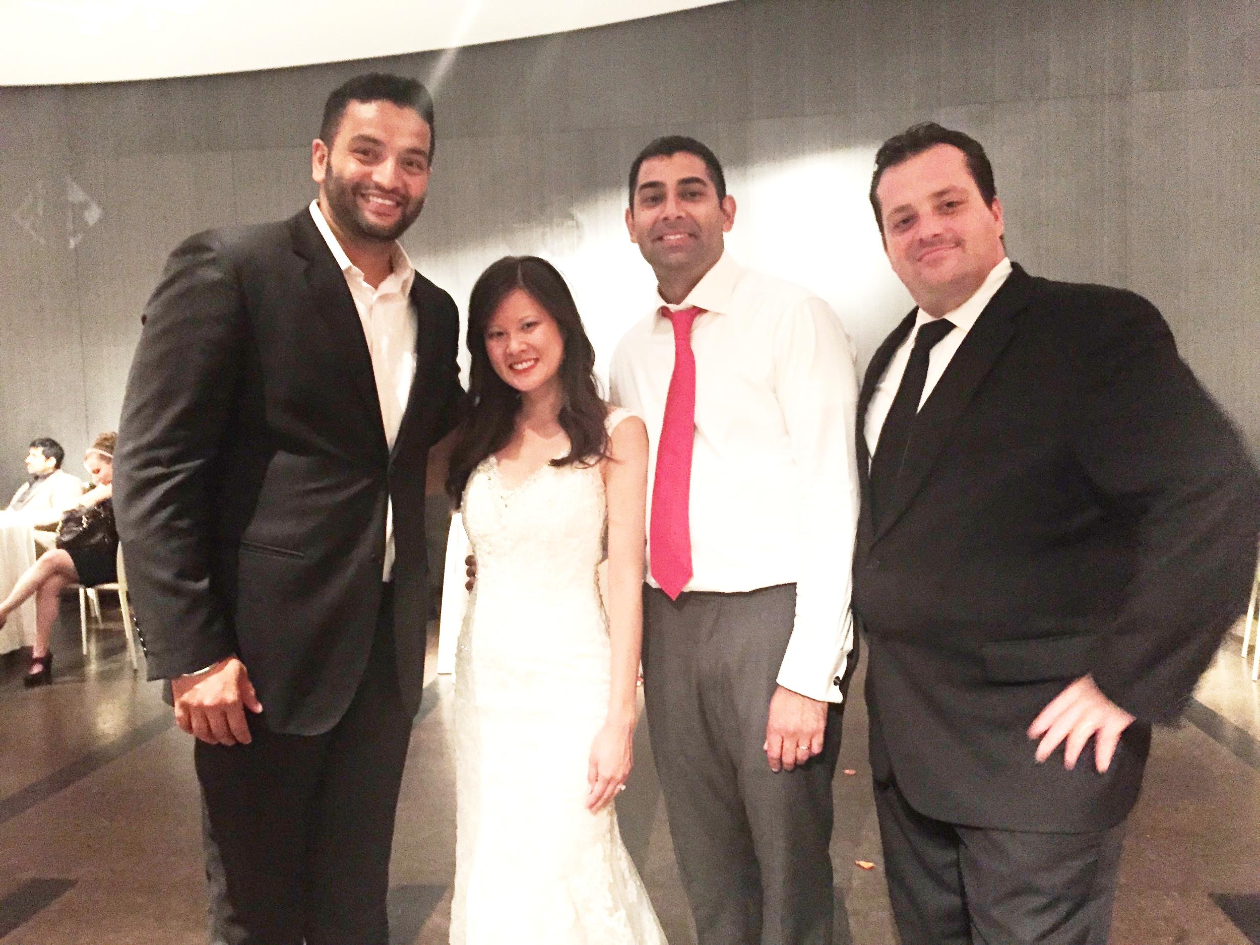 Mc Mario with DJ Amrit and the Wedding couple at One Atlantic, Atlantic CIty, NJ.