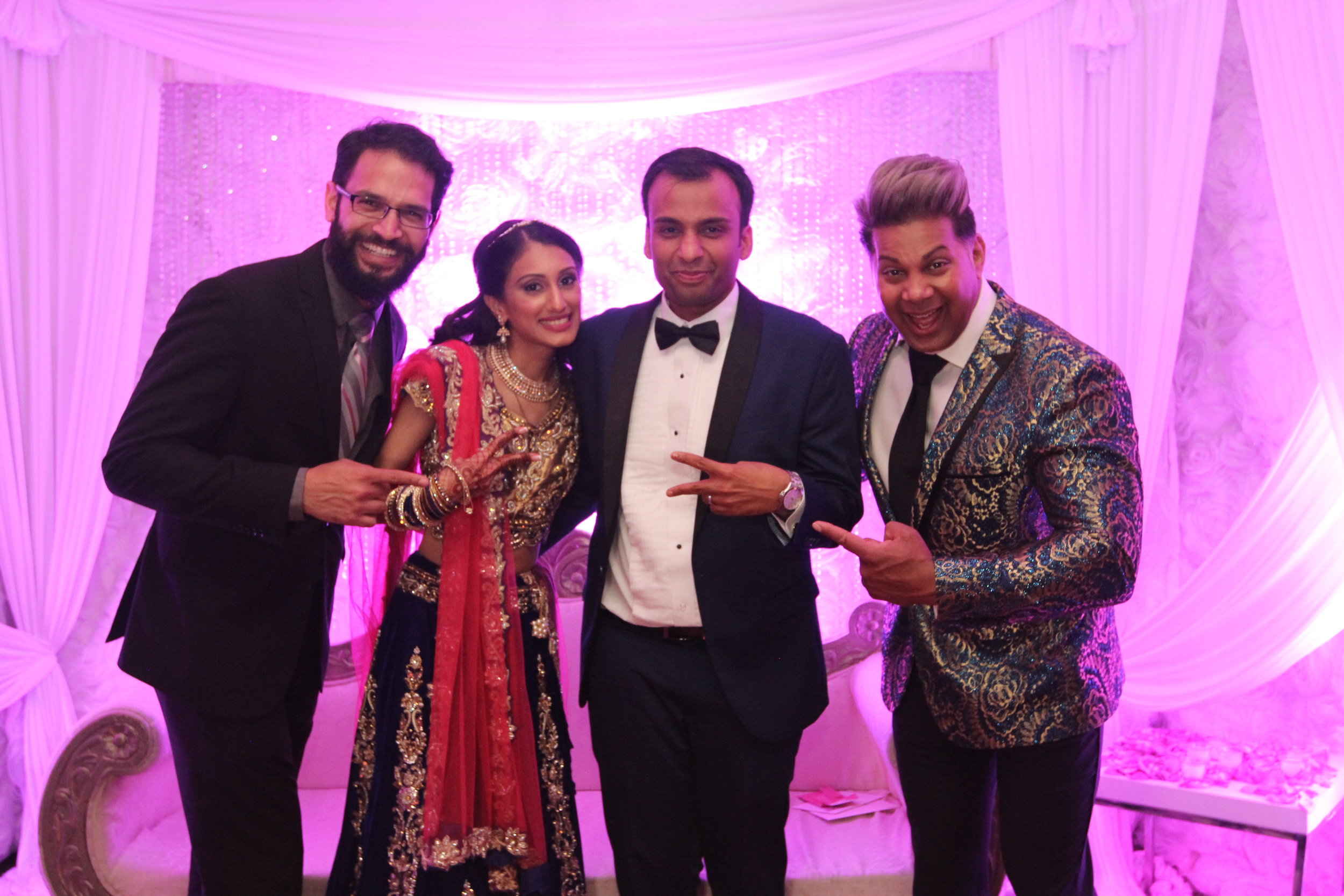 Dj deep and mc chris with the stunning couple at woodbury country club, NY.