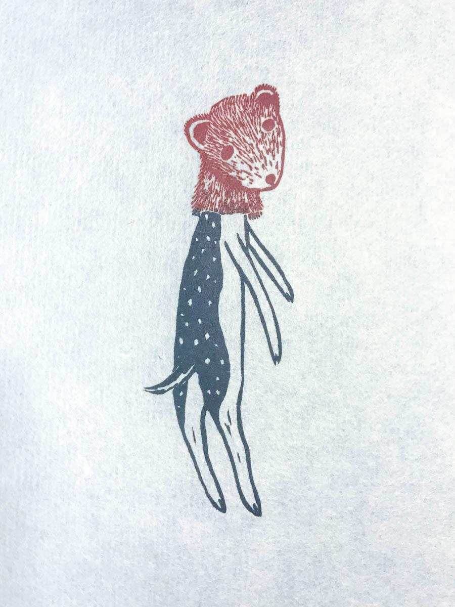 Woodcut by Sylvia Taylor