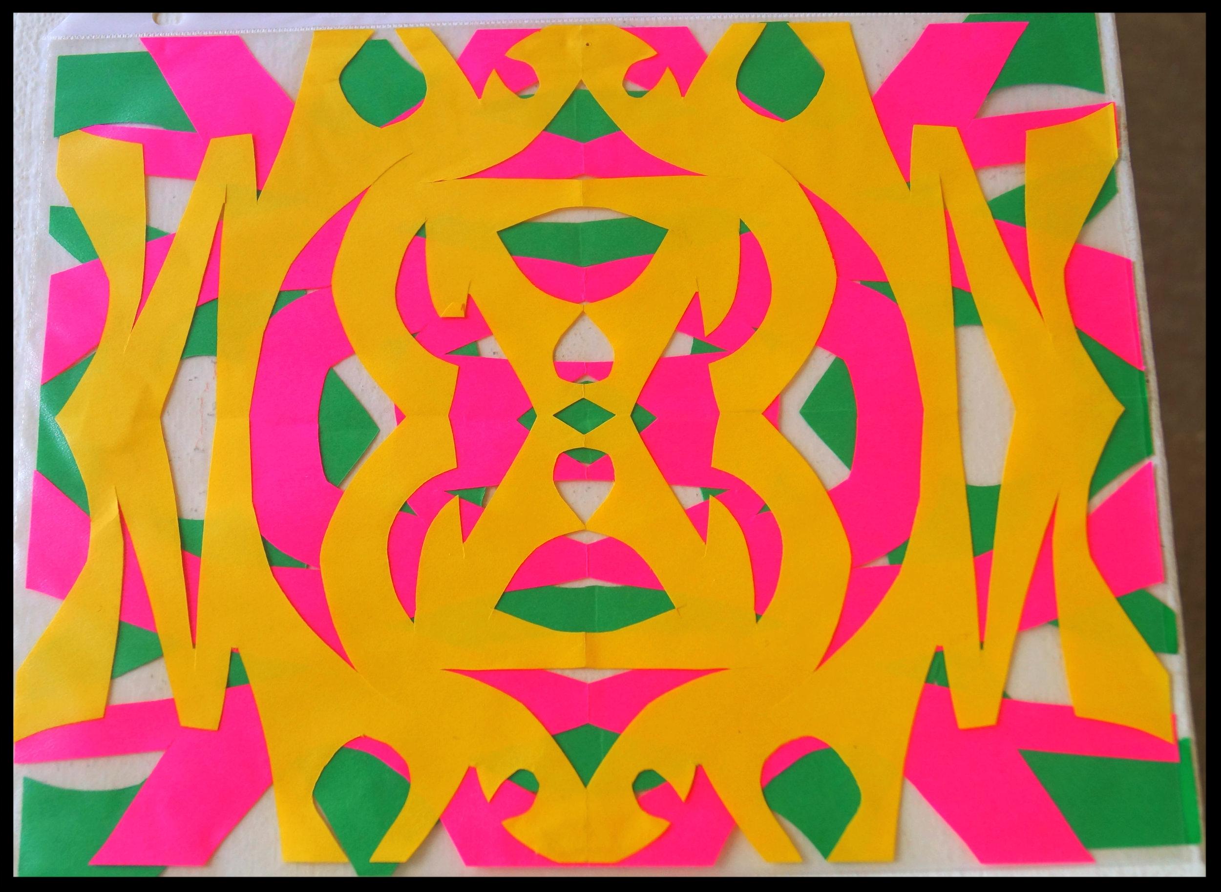 3-color cutout