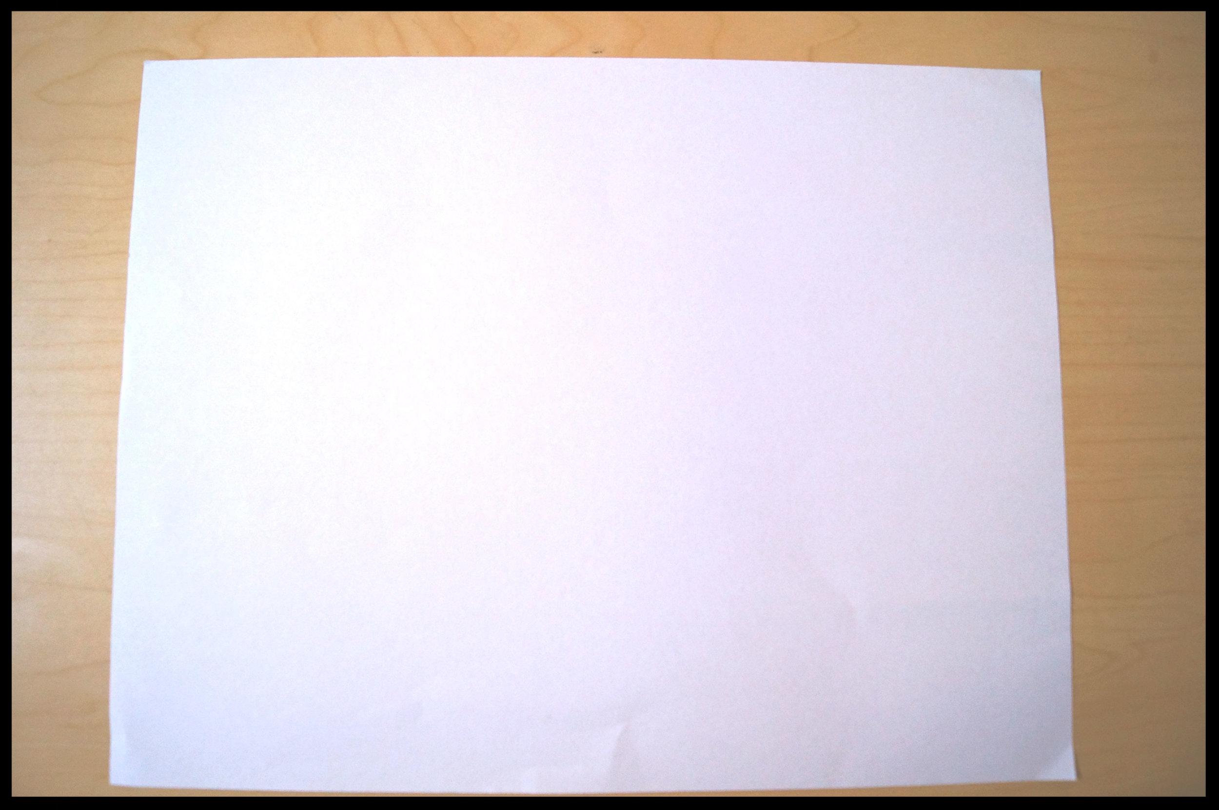 1. Lay one sheet of paper horizontally.