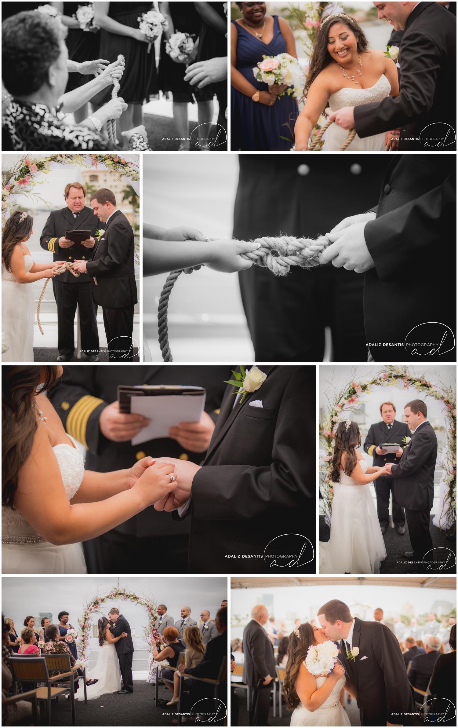 Taylor and amanda Indiana Fort Lauderdale Sun Dream yacht charter wedding 12