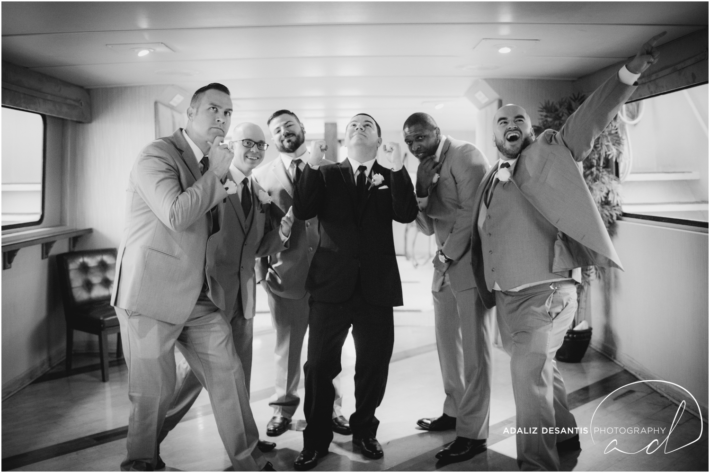 Taylor and amanda Indiana Fort Lauderdale Sun Dream yacht charter wedding 7