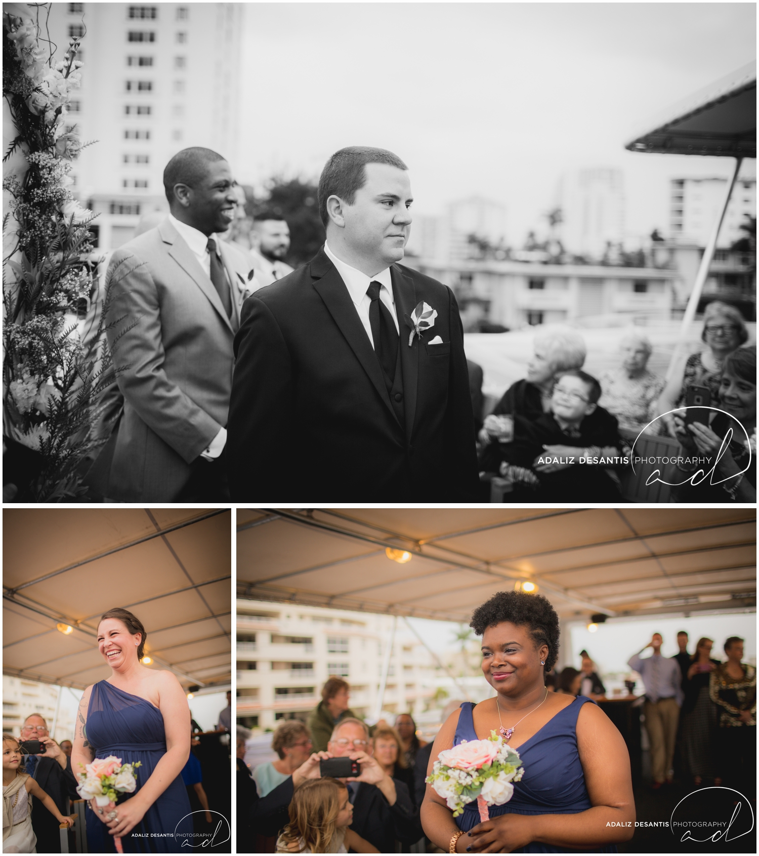 Taylor and amanda Indiana Fort Lauderdale Sun Dream yacht charter wedding 8