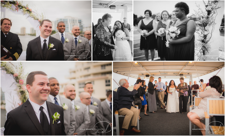 Taylor and amanda Indiana Fort Lauderdale Sun Dream yacht charter wedding 9