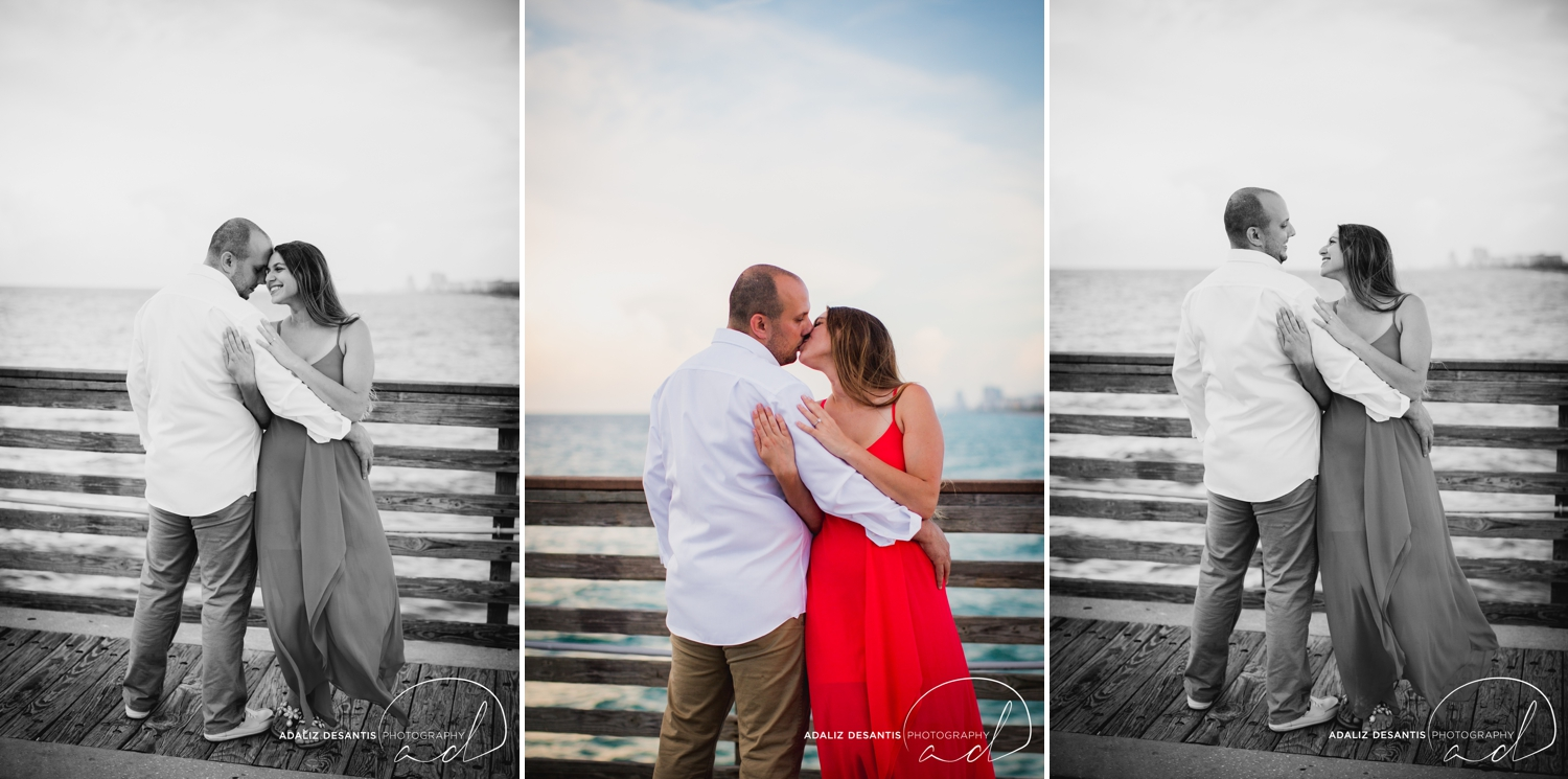 Gaby Aaron Engagement Session South Florida Dania Beach PIer Summer Love Destination Engaged 10.jpg