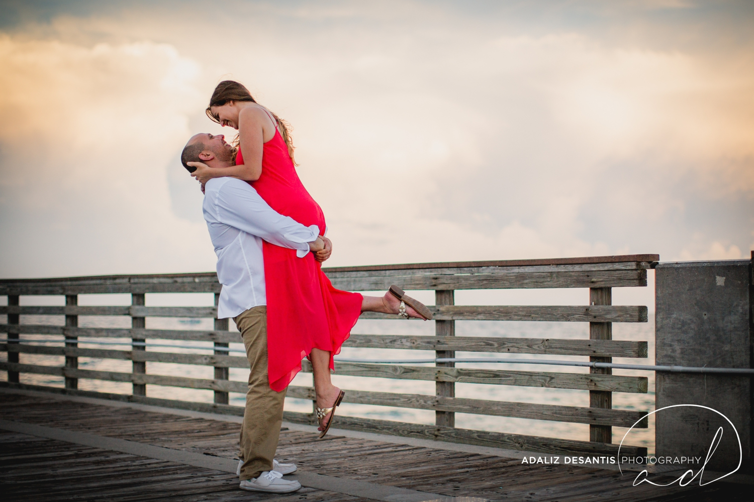 Gaby Aaron Engagement Session South Florida Dania Beach PIer Summer Love Destination Engaged 15.jpg
