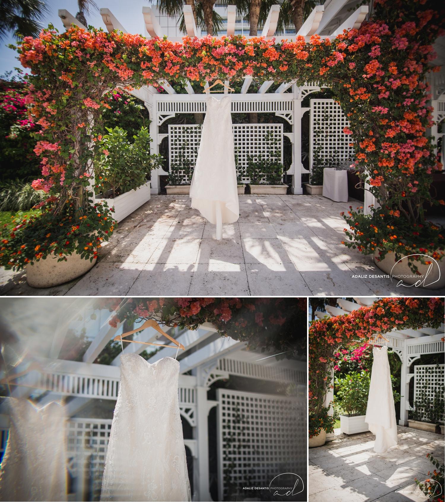 Carmen Alex palms hotel spa miami beach destination wedding lavender roses cuban cigar England cuba bride rose gold elegant Maggie Sottero Badgley Mischka 2.jpg