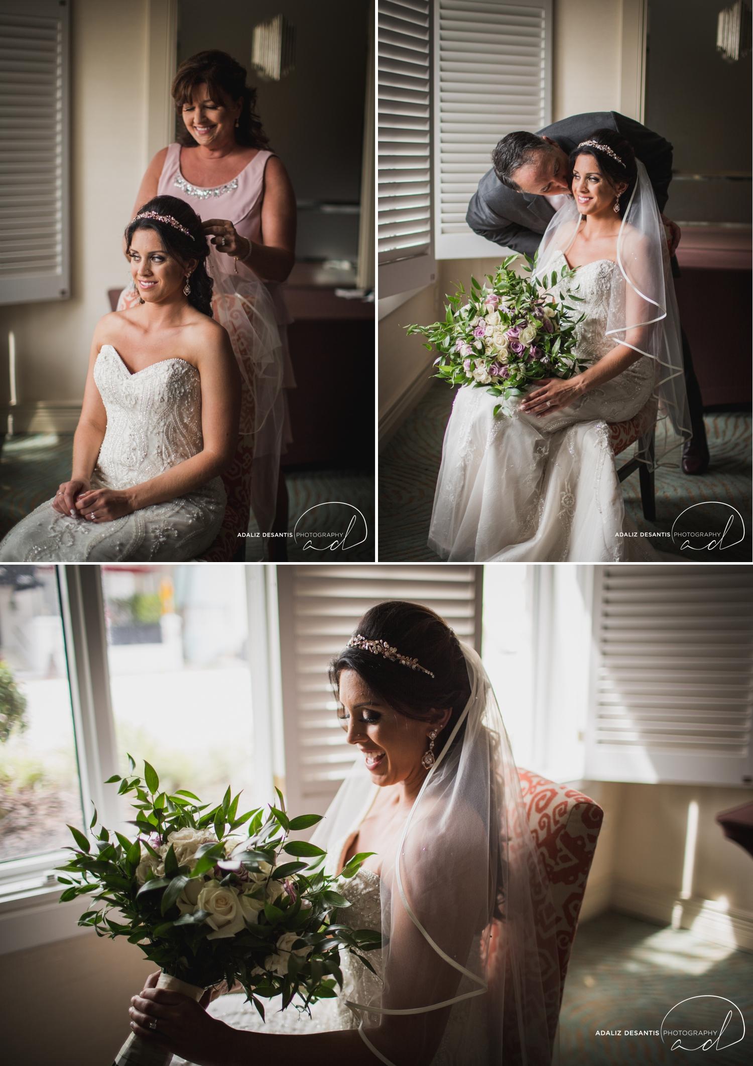 Carmen Alex palms hotel spa miami beach destination wedding lavender roses cuban cigar England cuba bride rose gold elegant Maggie Sottero Badgley Mischka 6.jpg