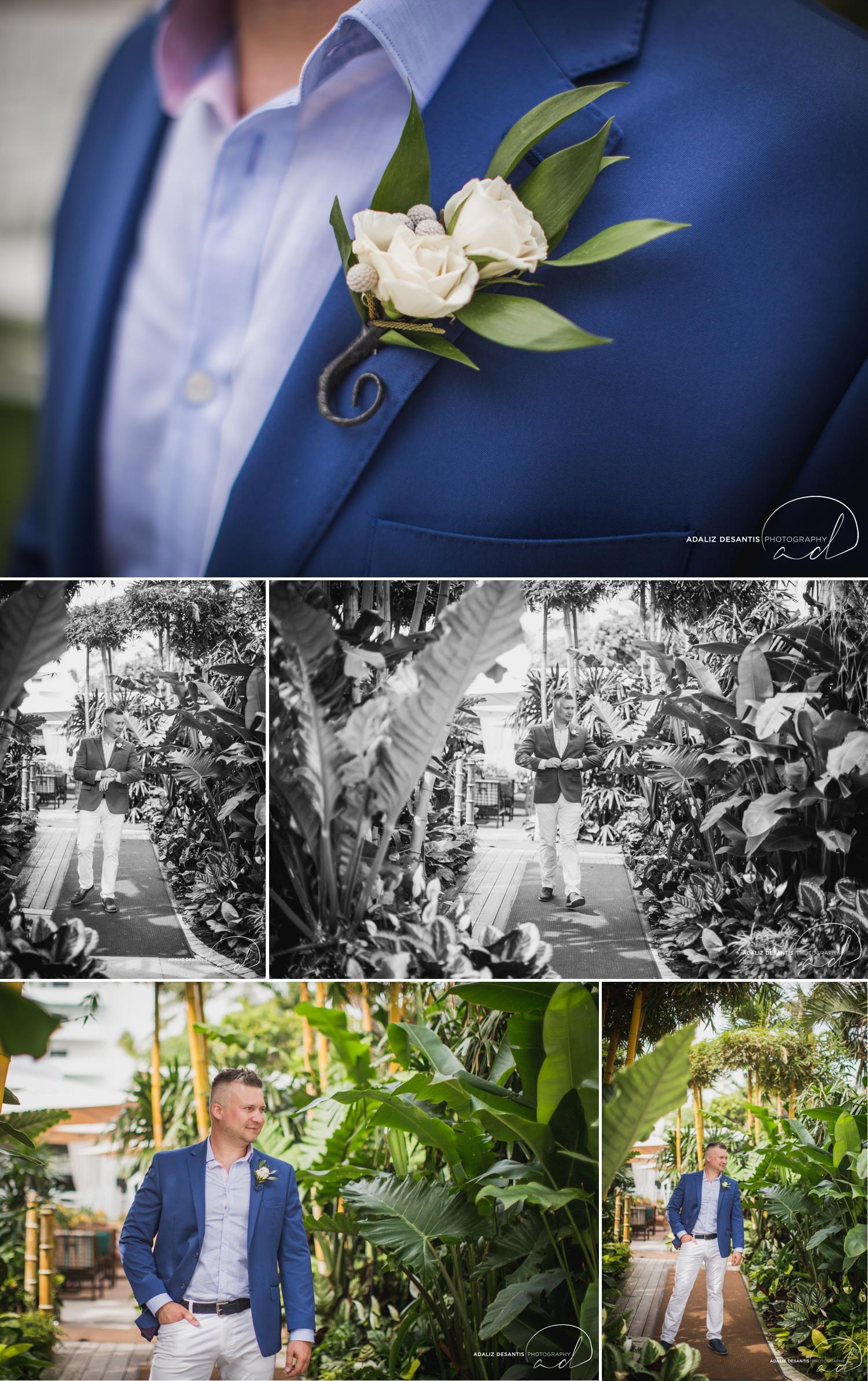 Carmen Alex palms hotel spa miami beach destination wedding lavender roses cuban cigar England cuba bride rose gold elegant Maggie Sottero Badgley Mischka 7.jpg