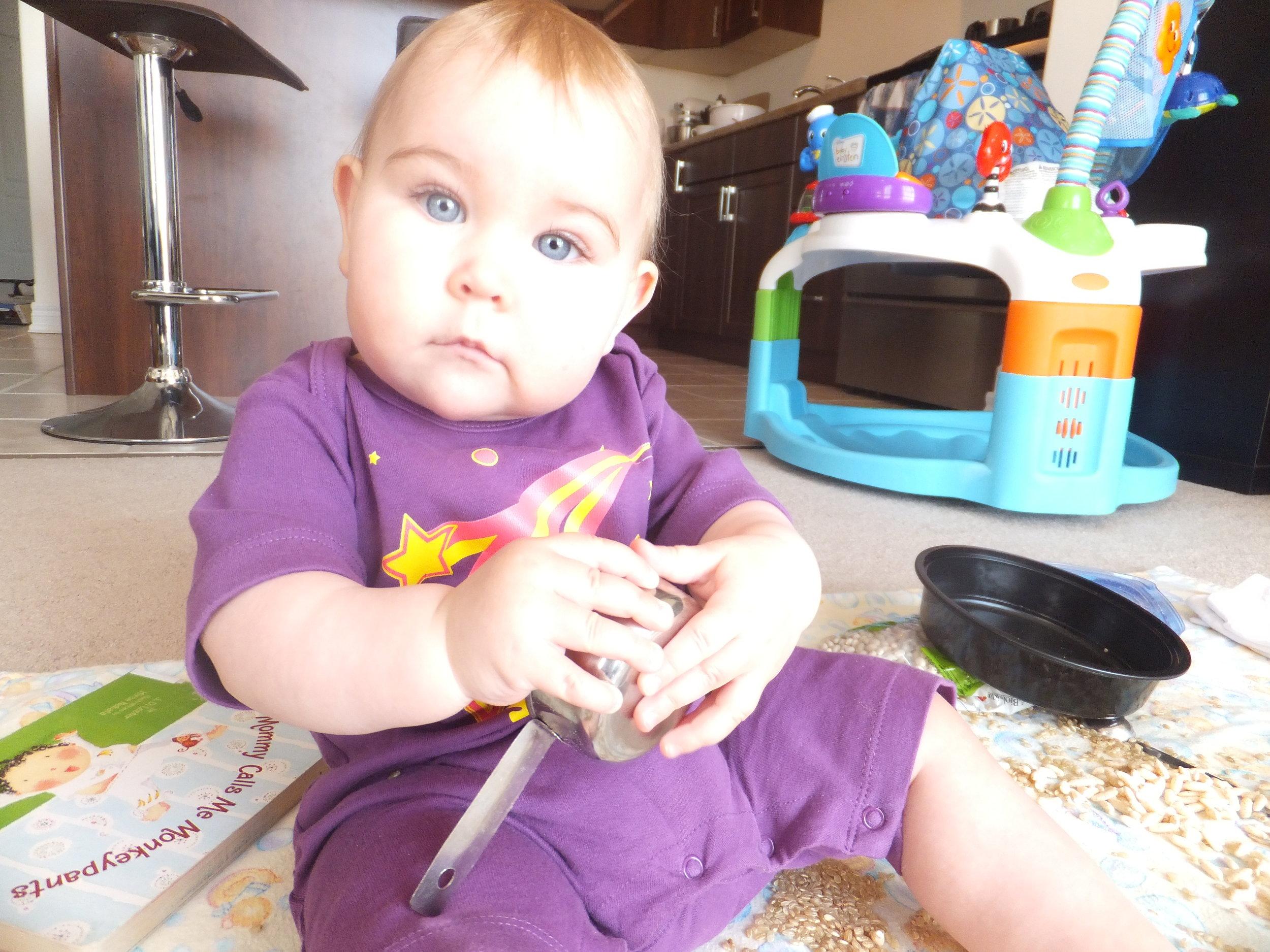Rocking her Parade baby onesie!
