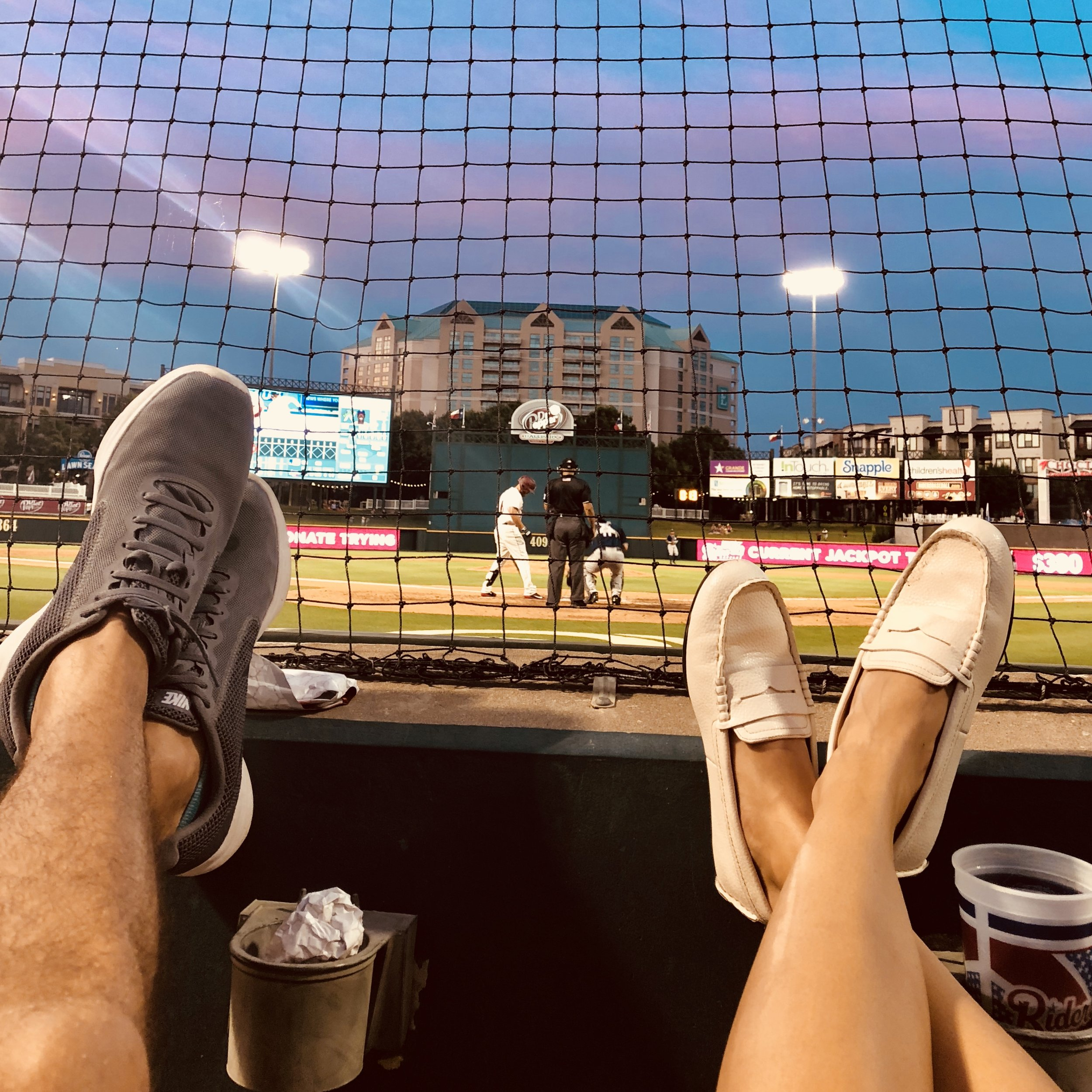 Here we are last night at the ball park! I've paired these loafers with black dress, a white romper, some floral shorts, and of course jeans. So many options with these!!