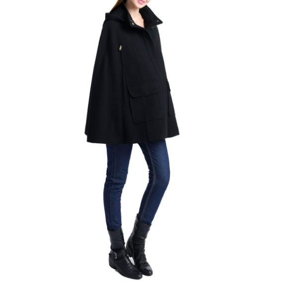 Kimi & Kai :  Capes are a winter life-saver! Not only are they flattering for the hip and   legline  , but they're practical, feminine, and fun! I mean, look how jeans and boots totally transformed!