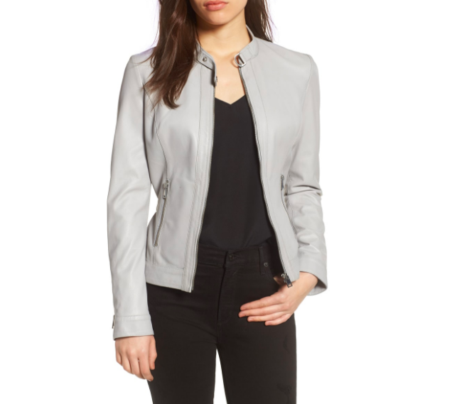 LeMarque Leather Jacket :  If the sound of a 'leather jacket' makes you nervous, try it in a softer color, like a grey or blush. It can be used in lieu of a denim jacket or blazer. It brings texture and   deimension   to your Look. It's also perfect to pair with more feminine pieces.