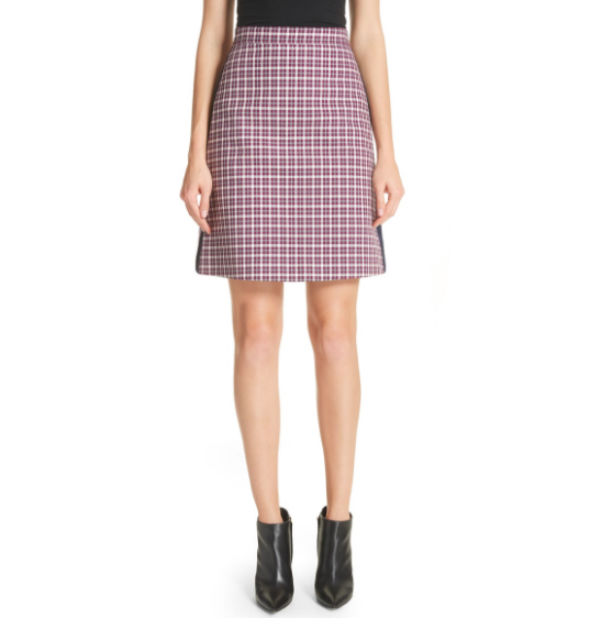 """Burberry Plaid A-line Skirt :  Don't be shocked by the preppiness of this skirt or if it feels 'too old or mundane"""" by adding a simple black bootie and you immediatelly make it current & modern."""
