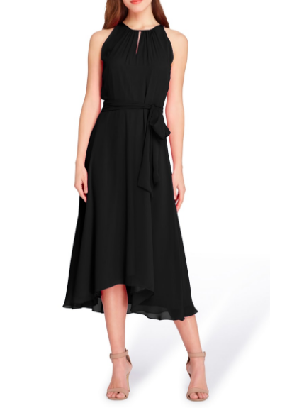 This  Tahari Sleveless Chiffon Dress is a classic, flattering silhouette- can't go wrong!
