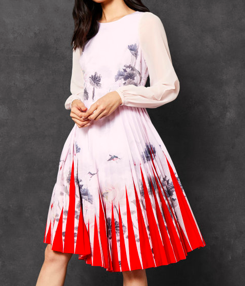 Ted Baker Pleated Midi Dress  Is it possible to feel yucky in a Ted Baker dress??? NO!!