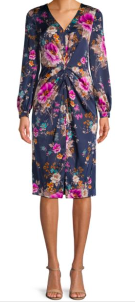 Maggy London: Floral Dress : How gorgeous is this floral print?! It's an easy dress with nude flats and a denim jacket during the day. Then to transition it to the evening just slip on a heel, remove the jacket, and add a statement necklace. Voila!