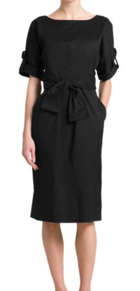 Donna Karan: Waist Tie Dress : Do you have your Go-To LBD? This one will DEFinitely highlight your waistline (as long as you're not an apple body type). It can easily go casual to dressy. If you want to add a little color, just add a colorful plaid scarf and a camel blazer. So chic, comfy, and flattering!