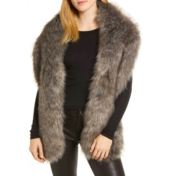 Halogen: Fuax Fox Fur Stole   FUR! Always the way to go ; ) You can pop this on under the lapel of your coat to give your outfit an elevated, fashion forward feel. This is a great way to take your outfit from average to wow.