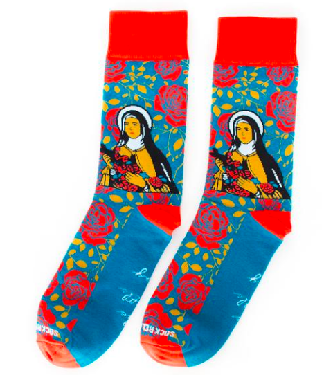 Sock Religious  How fun are these?!?! These are perfect for women to wear in their boots or use around the house to keep your tootsie's cozy. But let's not forget the men! These are perfect to add that sneakey pop of color to their neutral colored outfits.