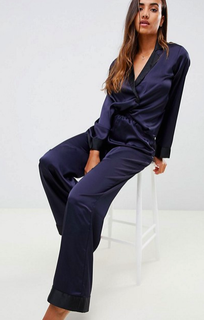 ASOS: Satin Pajama Set  It's time to amp up your friend/family member's PJ game. How luxe and chic is this set?! It's not a scientific fact, but I'm convinced that having nicer pajamas gives increases ulitimate relaxation and sleep!